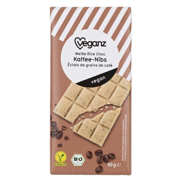 Veganz Weisse Kaffee-Nibs 80 g